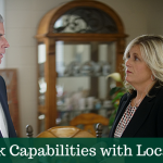 Big bank capabilities with local roots - banker and customer talking