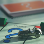 game board with race car