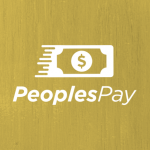 Peoples Pay logo on yellow back ground