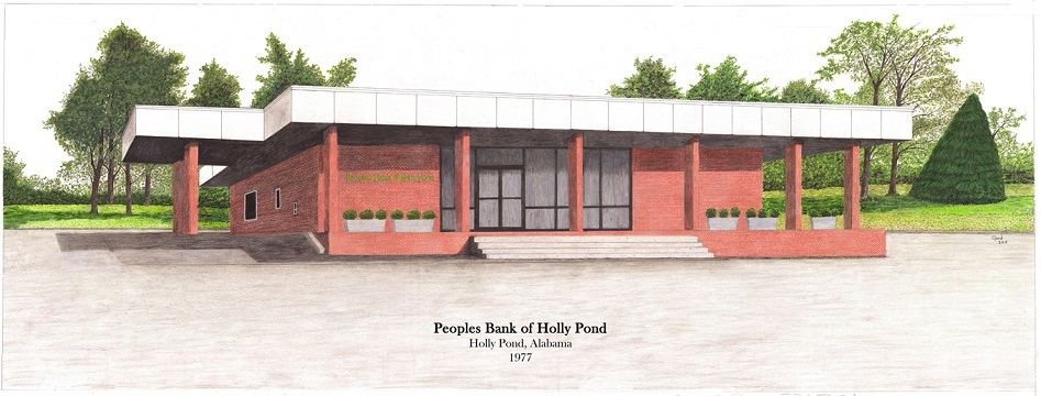 Sketch of original branch in Holly Pond