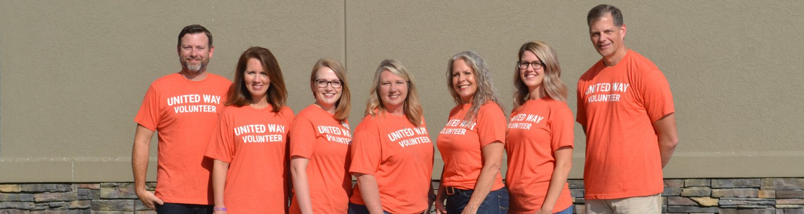 Community - group of people in United Way Serve shirts