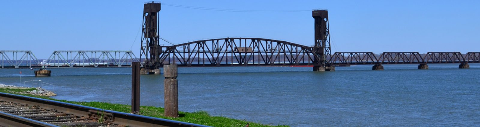 Tennessee Valley Region - Train Bridge over the Tennessee River in Decatur